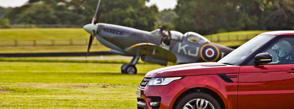 Range Rover Sport and Spitfire at Goodwood Festival of Speed 2013